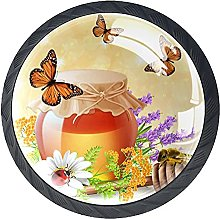 4 Pack Cabinet Door Knobs Butterfly Insects with
