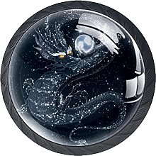 4 Pack Cabinet Door Knobs Dark Dragon with Pearl,