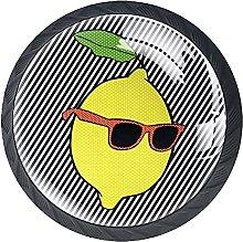 4 Pack Cabinet Door Knobs Pop Lemon with