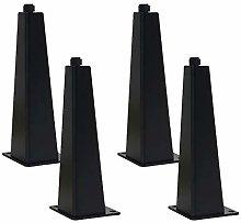 4 Pack Cabinet Feet Adjustable Tapered Furniture
