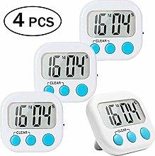 4 Pack Digital Kitchen Timer Big Digits Loud Alarm