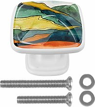 4 Pack Drawer Knob Pull Handle Glass Shape Cabinet
