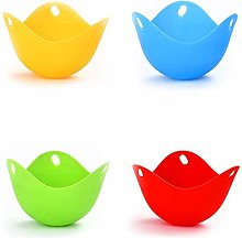 4 Pack Egg Poacher Cups Silicone Egg Pods Kitchen