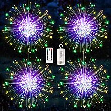 4 Pack Firework Lights, 120 LED Starburst Lights,