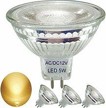 4-Pack,Full Glass Reflector MR16 LED Bulbs,Warm