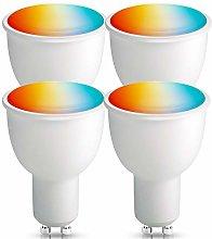 [4 Pack] GU10 Smart Light Bulb, BrizLabs WiFi