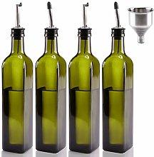[4 Pack]Mtophs 17 oz Olive Oil Dispenser Glass