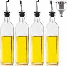 [4 Pack]Mtophs 17OZ Olive Oil Dispenser Glass