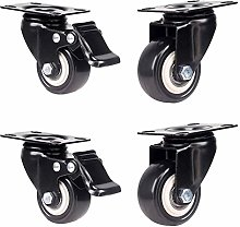 4 Pack of Caster Mute Wheel Heavy Swivel Castor