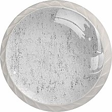4 Pack Round ABS Drawer Knob, Unfinished Cabinet