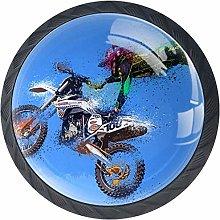 4 Pack Round Cabinet Hardware Knob Motorcycle