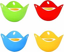 4 Pack Silicone Egg Poacher Poaching Cups, BPA