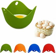 4 Pack Silicone Egg Poaching Cups Egg Poacher Pan