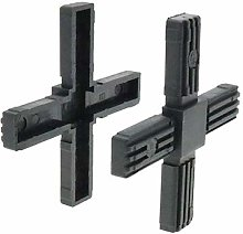 4 Pack Square 4 Way Cross Connector, Tube Fixing,