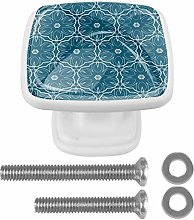 4-Pack Square Cabinet Knobs and Pulls, Furniture