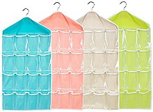 4 Pack Storage Organiser, XGZ 16 Pockets Hanging