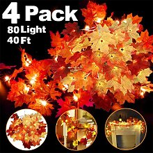 4 Pack Thanksgiving Fall Decorations Leaf Garland