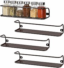 4 Pack Wall Mount Tier Spice Rack Nail Polish Rack