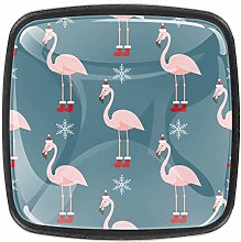 4 Packs Kitchen Cabinet Knobs,Flamingo with