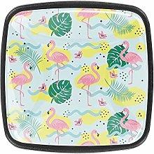 4 Packs Kitchen Cabinet Knobs,Flamingos Pattern