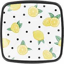 4 Packs Kitchen Cabinet Knobs,Fruit Lemon with