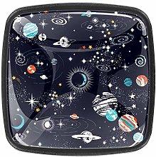 4 Packs Kitchen Cabinet Knobs,Galaxy Space Stars