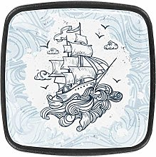 4 Packs Kitchen Cabinet Knobs,Hand Drawn Boat with