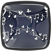 4 Packs Kitchen Cabinet Knobs,Music Note with