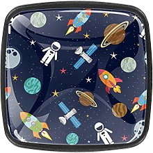 4 Packs Kitchen Cabinet Knobs,Spaceship Stars