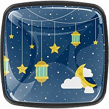 4 Packs Kitchen Cabinet Knobs,Starry Sky with