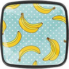 4 Packs Kitchen Cabinet Knobs,Sweet Bananas