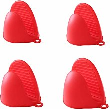 4 Packs Silicone Heat Resistant Mini Oven Mitts,