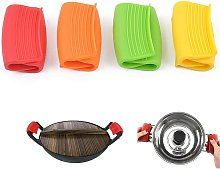 4 Pairs Heat Resistant Silicone Pot Holders,