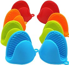 4 Pairs Silicone Baking Pinch Handles Oven Mitts