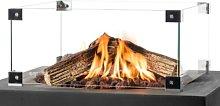4 Panel Glass Fireplace Screen Belfry Heating