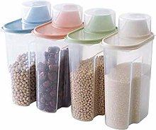 4 Pcs 1.9L Plastic Food Storage Box Lattices,