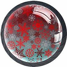 4 Pcs 35mm Christmas Snowflake Pattern Retro