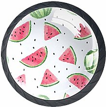 4 Pcs 35mm Summer Fruit Watermelons Cabinet Knobs