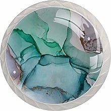 4 Pcs ABS Glass Cabinet Knobs Pulls Knob Dresser