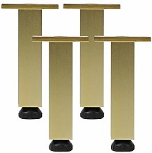 4 Pcs Aluminum Square Cabinet Feet,Furniture Legs