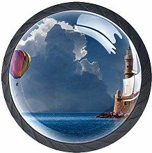 4 Pcs Balloon Lighthouse Crystal Class Cabinet