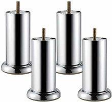 4 Pcs Cabinet Feet Metal, Round Steel Furniture