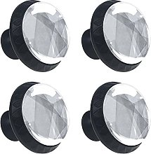 4 Pcs Cabinet Knobs Crystal Glass Drawer