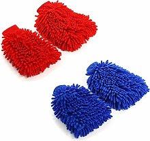 4 Pcs Car Wash Gloves, Chenille Microfiber Car