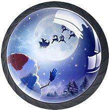 4 Pcs Christmas Hat Snow Reindeer Crystal Class