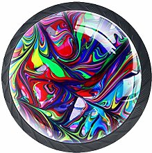 4 PCS Colorful Crystal Glass Cupboard Wardrobe