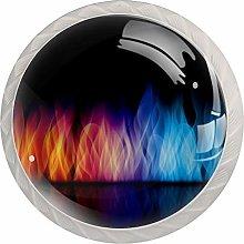 [4 PCS]Colorful Crystal Glass Cupboard Wardrobe