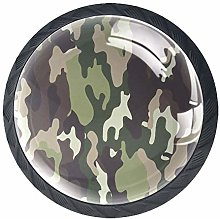 4 Pcs Cool Army Camouflage Crystal Class Cabinet