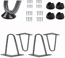 4 pcs DIY Hairpin Table Legs, Heavy Duty Metal