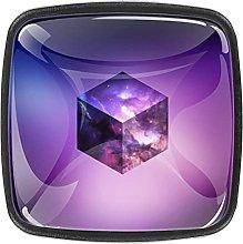 (4 PCs) Drawer Knobs Dresser Knobs Crystal Glass
